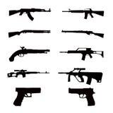 Collezioni dell'arma Fotografia Stock Libera da Diritti