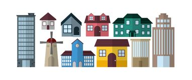 Collezioni delle costruzioni della città illustrazione vettoriale
