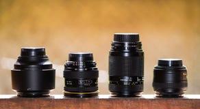 Collezioni delle lenti Fotografia Stock Libera da Diritti