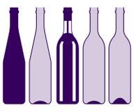 Collezioni di bottiglia dell'alcool royalty illustrazione gratis