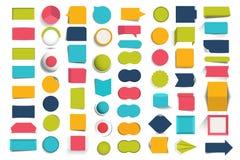 Collezioni di bottoni di progettazione di infographics, elementi royalty illustrazione gratis