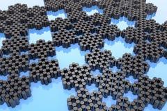 Collezioni di cristalli - nanotecnologia illustrazione di stock