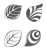 Collezioni di elementi di progettazione della foglia di vettore illustrazione vettoriale