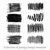 Collezioni di elementi di progettazione di lerciume royalty illustrazione gratis