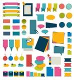 Collezioni di elementi piani di progettazione di infographics illustrazione di stock