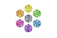 Collezioni di gemme isolate su priorità bassa bianca gemstone royalty illustrazione gratis