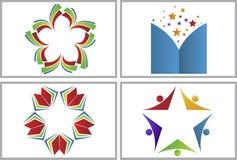 Collezioni di logo della stella del libro illustrazione di stock