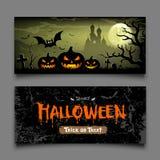 Collezioni di orizzontale delle insegne di Halloween illustrazione vettoriale