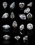 Collezioni di pietra preziosa dei gioielli illustrazione vettoriale