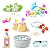 Collezioni di stupore di festival della Tailandia Songkran illustrazione di stock