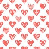 Collezioni di vettore di cuori disegnati a mano isolati su fondo trasparente Clipart di giorno di biglietti di S. Valentino di am royalty illustrazione gratis