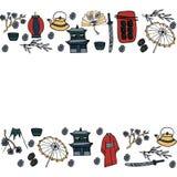Collezioni di vettore di elementi giapponesi illustrazione vettoriale