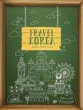 Collezioni di viaggio della Corea del Sud royalty illustrazione gratis