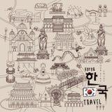 Collezioni di viaggio della Corea del Sud illustrazione di stock