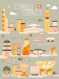 Collezioni di viaggio di Hong Kong illustrazione di stock