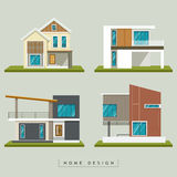 Collezioni esteriori domestiche di progettazione illustrazione di stock