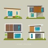 Collezioni esteriori domestiche di progettazione moderna illustrazione di stock