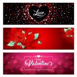 Collezioni felici delle insegne di giorno di S. Valentino illustrazione di stock
