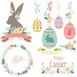 Collezioni felici di giorno di Pasqua illustrazione di stock