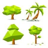Collezioni geometriche degli alberi di vettore illustrazione di stock