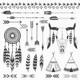 Collezioni indiane tribali royalty illustrazione gratis