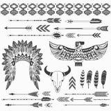 Collezioni indiane tribali di etnia royalty illustrazione gratis