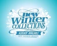 Collezioni invernali dell'insegna di modo nuove illustrazione vettoriale