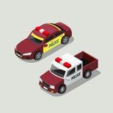 Collezioni isometriche del volante della polizia illustrazione di stock