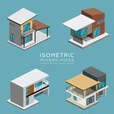 Collezioni isometriche della casa moderna illustrazione vettoriale