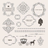 Collezioni mega dell'insieme di elementi d'annata di progettazione royalty illustrazione gratis