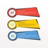Collezioni moderne delle insegne di vettore di progettazione infographic variopinta royalty illustrazione gratis