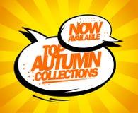 Collezioni superiori di autunno ora disponibili illustrazione di stock