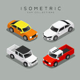 Collezioni variopinte isometriche dell'automobile illustrazione vettoriale