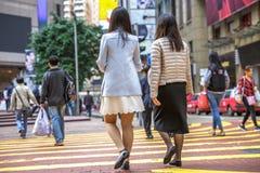 Collègues de femelle de Times Square Images libres de droits