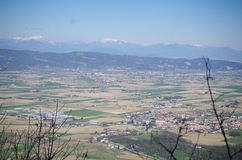 Colli euganei. A photo from Colle Grande (Italy). We can see the alps. A beautiful view stock photos