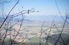 Colli euganei 2. A photo from Colle Grande (Italy). We can see the alps. A beautiful view Royalty Free Stock Image