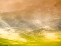 Collide two color cloud Stock Photography