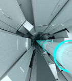 Collider. The hadron collider 3d illustration Royalty Free Stock Photos