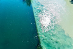 Colliding Rivers in Geneva Royalty Free Stock Photo