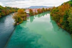 Free Colliding Rivers In Geneva Royalty Free Stock Image - 45468136