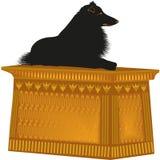 Collie áspera da estátua do cão ilustração stock