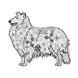 Collie Dog Doodle Illustration de Vecteur