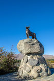 Collie dog monument in Lake Tekapo, New Zealand Stock Photo