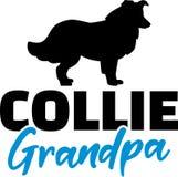 Collie Grandpa met silhouet vector illustratie