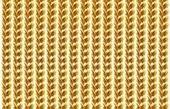 Collier à chaînes d'or d'isolement sur le blanc, plan rapproché, pour le fond Photos libres de droits