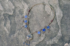 Collier antique de lazulite Images stock