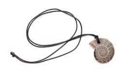 Collier avec l'ammonite Image libre de droits