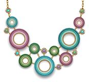 Collier avec les anneaux perlés Image libre de droits