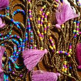 Collier coloré. Collier artisanal perles inspiration India royalty free stock images