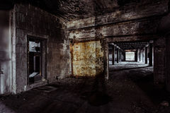 Collier-Crowell Building - Springfield, Ohio. Inside the long abandoned Collier-Crowell Building in downtown Springfield, Ohio Stock Image